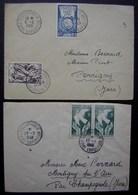 Toulon 1949 Et 1948 Lot De Deux Lettres Oblitérées Foire Exposition - Marcophilie (Lettres)