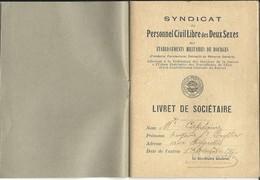 18 - CHER -  BOURGES - Petit Livret  Du Syndicat Du Personnel Des Ets Militaires '1917' 4 Scans - Bourges