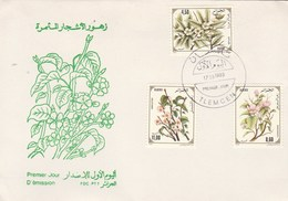 Algérie FDC 1993 Yvert Série 1040 à 1042 Fleurs Arbres Fruitiers - Algeria (1962-...)