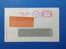 1988 AFFRANCATURA MECCANICA ROSSA EMA RED BUSTA CITIBANK ITALIA BARLETTA BARI - Affrancature Meccaniche Rosse (EMA)