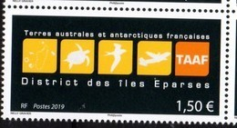 TAAF, FRENCH ANTARCTIC, 2019, MNH, DISTRICT DES ILES EPARSES , STYLIZED TURTLES, BIRDS, PLANES, 1v - Tortues