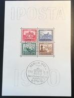 Deutsches Reich 1930 IPOSTA  Briefmarken Ausstellung Block 1 Stpl FALSCH (bloc Souvenir Sheet Philatelic Exhibition - Blocks & Kleinbögen