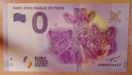 Billet Touristique 0 Euro  Parc Zoologique De Paris  2016 - Autres