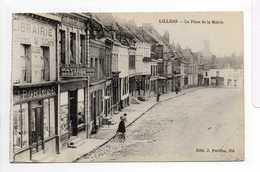 - CPA LILLERS (62) - La Place De La Mairie (PATISSERIE DUEZ-LIETARD) - Edition J. Poriche - - Lillers