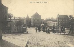 HAL - HALLE : Place De La Gare - Cachet De La Poste 1906 - Halle