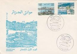 Algérie FDC 1993 Yvert Série 1050 Et 1051 Ports Annaba Et Arzew - Algeria (1962-...)