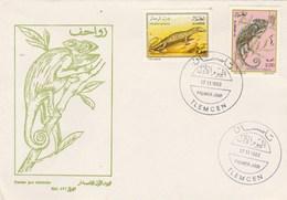 Algérie FDC 1993 Yvert Série 1052 Et 1053 Animaux Reptiles - Algeria (1962-...)