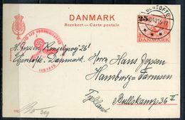 """Dänemark 1940 Ganzsache Mi.Nr.??? Mit Deutschen Zensurstempel"""" Dänemark-Hamburg""""1Beleg - Alemania"""