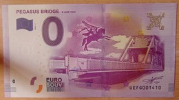 Billet Touristique 0 Euro Pegasus Bridge 2016 - Autres
