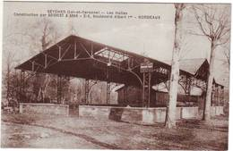28 RE CPA Seyches Les Halles Construction Par Boisvert Et Aran Bordeaux - Autres Communes