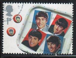 Great Britain 2007 Single 1st Stamp From Beatles Album Covers Mini Sheet. - 1952-.... (Elizabeth II)