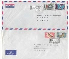 Lebanon 2 Covers Sent To Denmark. # 822 # - Lebanon