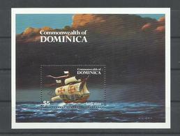 DOMINICA, HOJA BLOQUE SANTA MARIA   MNH  ** - Cristóbal Colón