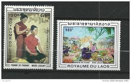 """Laos Aerien YT 62 & 63 (PA) """" Tableaux """" 1969 Neuf** - Laos"""