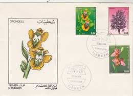 Algérie FDC 1994 Yvert Série 1059 à 1061 Fleurs Orchidées - Algeria (1962-...)