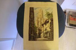Gravure De La Cathédrale D'Albi -sainte-Cécile D'Albi Par Bau-champ XIX°siècle - Stiche & Gravuren