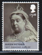 Great Britain 2010 Single £1 Stamp From Kings And Queens House Of Hanover Mini Sheet. - 1952-.... (Elizabeth II)