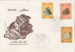 Algérie FDC 1994 Yvert Série 1073 à 1075 Minéraux - Algeria (1962-...)