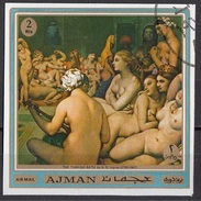 "558 Ajman 1970 "" Il Bagno Turco "" Quadro Dipinto Da J.A.D. Ingres Preoblit. Neoclassicismo Painting Tableau - Nudes"