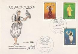 Algérie FDC 1994 Yvert Série 1077 à 1079 Danses Régionales - Algeria (1962-...)