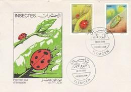 Algérie FDC 1994 Yvert Série 1067 Et 1068 Faune Insectes Coccinelle - Algeria (1962-...)