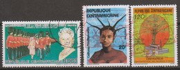 Repubblica Centroafricana 1985-86 Selezione 3v Us - Central African Republic