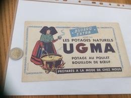 """Buvard """"LES POTAGES NATURELS UGMA"""" (alsacienne) - Potages & Sauces"""