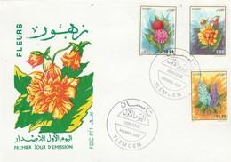 Algérie FDC 1995 Yvert Série 1083 à 1085 Fleurs - Algeria (1962-...)