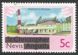 Nevis. 1980 Overprints. 5c MH. SG 37 - St.Kitts And Nevis ( 1983-...)