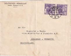 INDES NEERLANDAISES 1935 LETTRE DU CONSULAT ALLEMAND DE MEDAN/SUMATRA - Indes Néerlandaises