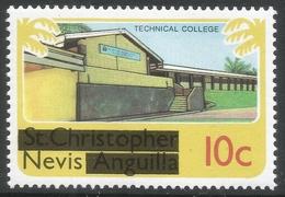 Nevis. 1980 Overprints. 10c MH. SG 38 - St.Kitts And Nevis ( 1983-...)