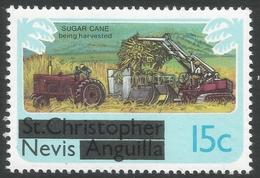 Nevis. 1980 Overprints. 15c MH. SG 40 - St.Kitts And Nevis ( 1983-...)