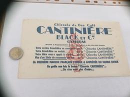 """Buvard """"Chicorée Du Bon Café CANTINIÈRE BLACK ET Cie - CAMBRAI (59) """" - Café & Thé"""