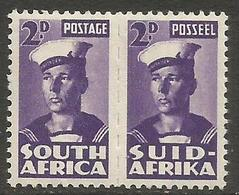 South Africa - 1943 Sailor 2d Pair MNH **   SG 100  Sc 93 - South Africa (...-1961)