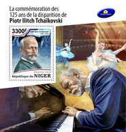 NIGER 2018 - P. Tchaikovsky, Ballet S/S. Official Issue - Dance