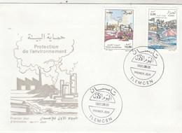 Algérie FDC 1995 Yvert  Série 1091 Et 1092 Contre Pollution Air Et Eau - Algeria (1962-...)