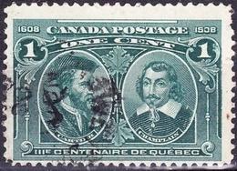 CANADA 19281c Blue-Green Quebec TercentenarySG109FU - Used Stamps