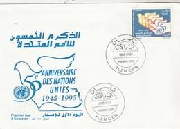 Algérie FDC 1995 Yvert  1094 50 Ans ONU - Algeria (1962-...)