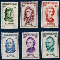 FR 1956  Personnages étrangers De L'histoire De France   N°YT  1082-1087  ** MNH - France