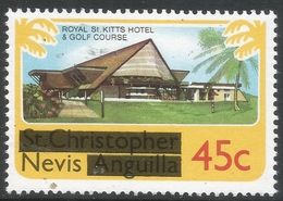 Nevis. 1980 Overprints. 45c MH. SG 44 - St.Kitts And Nevis ( 1983-...)