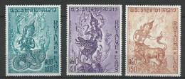 "Laos Aerien YT 91 à 93 (PA) "" Mythologie 1972 Neuf** - Laos"