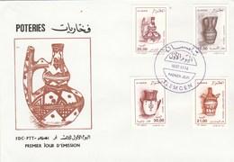 Algérie FDC 1995 Yvert Série 1096 à 1099 Poteries - Algeria (1962-...)