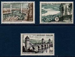 FR 1957  Série Touristique   N°YT  1117-1119  ** MNH - Neufs