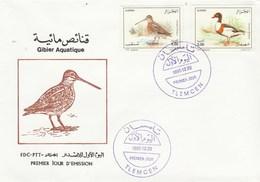 Algérie FDC 1995 Yvert Série 1103 Et 1104 Oiseaux Gibier Aquatique - Algeria (1962-...)