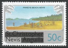 Nevis. 1980 Overprints. 50c MH. SG 45 - St.Kitts And Nevis ( 1983-...)