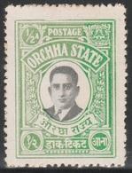 British India ORCHHA STATE 1935 - 1/2a - Maharaja Vir SIngh II - MVLH - Orchha