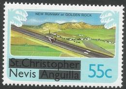 Nevis. 1980 Overprints. 55c MH. SG 46 - St.Kitts And Nevis ( 1983-...)