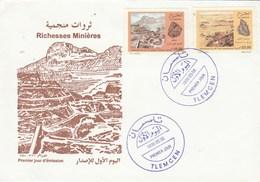 Algérie FDC 1996 Yvert Série 1106 Et 1107 Gisements Minerais - Algeria (1962-...)