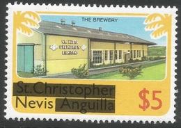 Nevis. 1980 Overprints. $5 MH. SG 48 - St.Kitts And Nevis ( 1983-...)