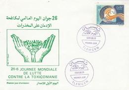Algérie FDC 1996 Yvert 1111 Contre Toxicomanie - Algeria (1962-...)